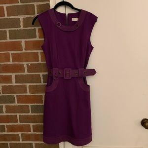 Trina Turk mod belted sleeveless dress 0